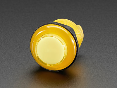Arcade Button with LED - 30mm Translucent Yellow  Adafruit 3488