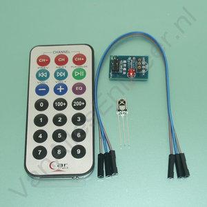 Infrarood ontvanger en afstandsbediening kit audio