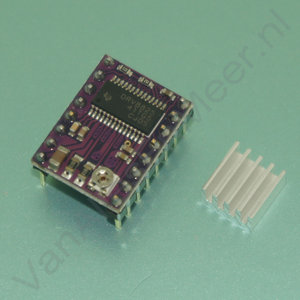 Stappenmotor driver stepstick DRV8825 met heatsink 3D printer