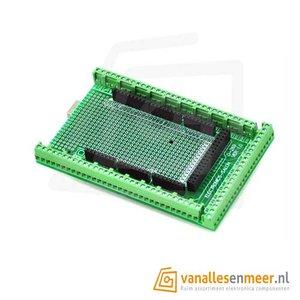 Arduino MEGA screw shield Gesoldeerd