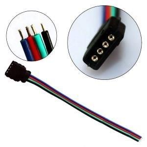 RGB stekker met kabel voor ledstrip female