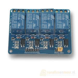 5VDC Relais board 4-kanaals