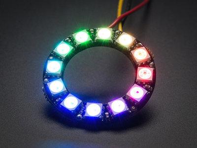 NeoPixel RGB Ring  - 12   van Adafruit 1643