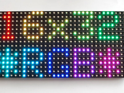LED matrix panel 16x32 RGB   van Adafruit 420