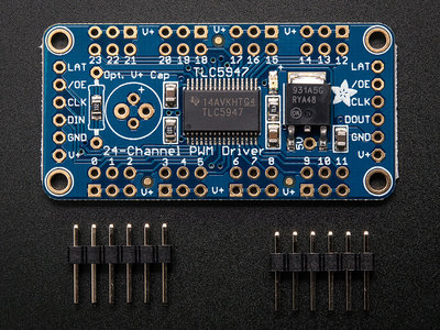 24-Channel 12-bit PWM LED Driver  van Adafruit 1429
