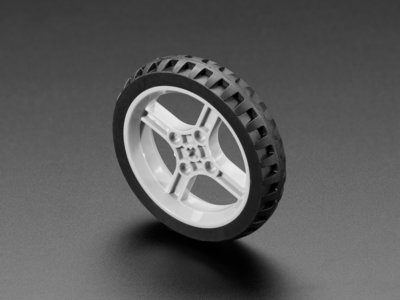 Black Multi-Hub Wheel for TT / Lego or N20 Motor - 65mm Diameter Adafruit 4205