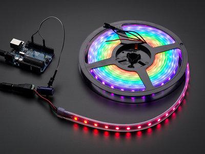 NeoPixel RGB strip 60LEDs/1m wit van Adafruit 1138