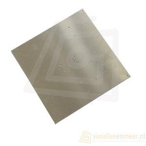 MK2 3d printer Aluminium onder plaat