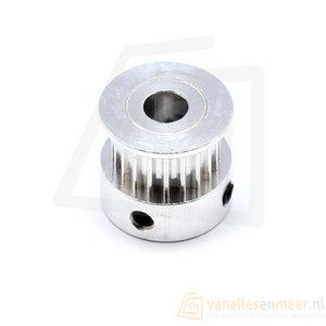 GT2-6 20 Tanden Pulley Aluminium 5mm boring