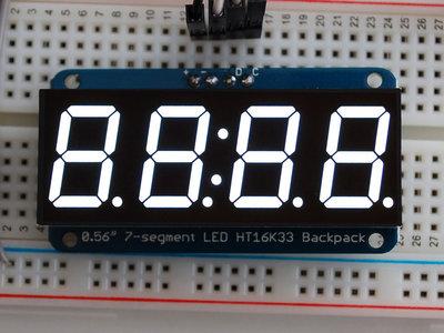 "0.56"" 4-Digit 7-Segment Display w/I2C Backpack Wit adafruit 1002"