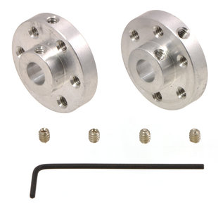 Aluminum Mounting 6mm Shaft, (2-Pack) Pololu 1999