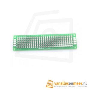 Prototyping board 2x8cm (6x28gaats) PCB dubbelzijdig