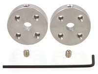Universal Aluminum Mounting Hub for 4mm Shaft, 4-40 Holes (2-Pack) Pololu 1081