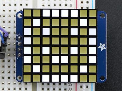 8x8 Ultra Bright Square White LED Matrix + Backpack  Adafruit 1857