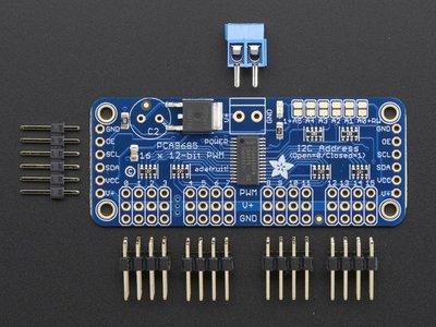 16-Channel 12-bit PWM/Servo Driver - I2C interface - PCA9685  Adafruit 815
