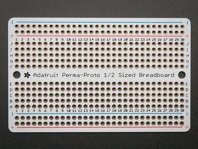 Prototyping board PermaProto half-sized breadboard PCB Adafruit 1609