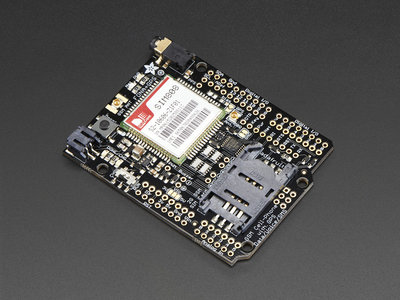 FONA 808 Shield - Mini Cellular GSM + GPS for Arduino  Adafruit 2636