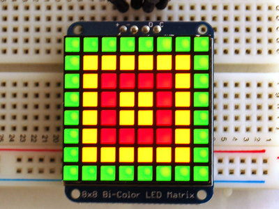 8x8 Bicolor LED Square Pixel Matrix with I2C Backpack  Adafruit 902