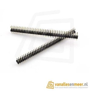 Header male 2x40 pins recht Double Row