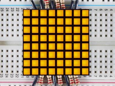 "1.2"" 8x8 Matrix Square Pixel - Yellow  Adafruit 1819"