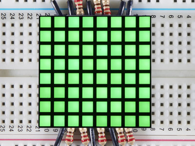 "1.2"" 8x8 Matrix Square Pixel - Green  Adafruit 1820"
