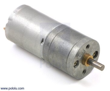 34:1 Metal Gearmotor 25Dx52L mm HP 6V Pololu 1573