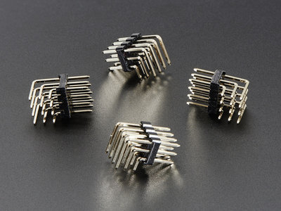 3x4 Right Angle Male Header - 4 pack  Adafruit 816