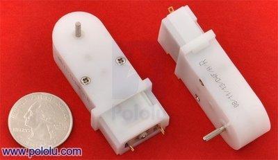120:1 Mini Plastic Gearmotor, 90° 2mm Spline Output Pololu 1123
