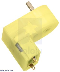 180:1 Mini Plastic Gearmotor, Offset 3mm D-Shaft Output Pololu 1594
