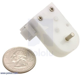 120:1 Mini Plastic Gearmotor HP, Offset 3mm D-Shaft Output, Extended Motor Shaft Pololu 1520