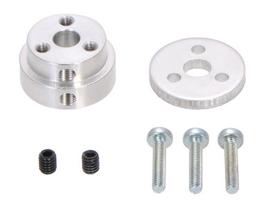 Aluminum Scooter Wheel Adapter for 6mm Shaft  Pololu 2674
