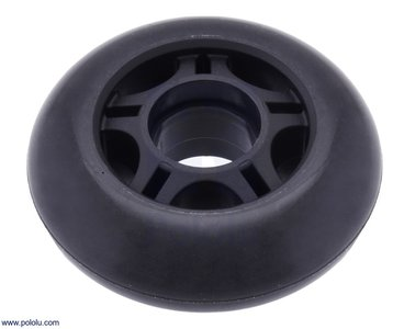 Scooter/Skate Wheel 70×25mm - Black   Pololu 3272