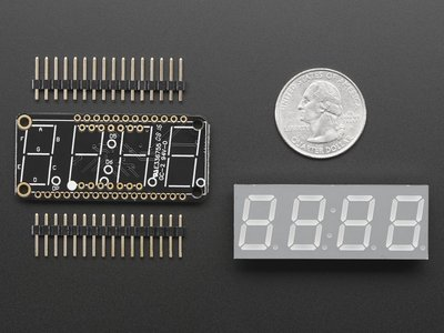 "0.56"" 4-Digit 7-Segment FeatherWing Display - Yellow  Adafruit 3110"