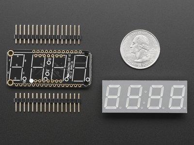 """0.56"""" 4-Digit 7-Segment FeatherWing Display - Yellow  Adafruit 3110"""