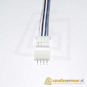 XH2.54 4pin set recht met kabel 15cm