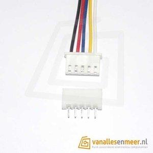 XH2.54 5pin set recht met kabel 15cm