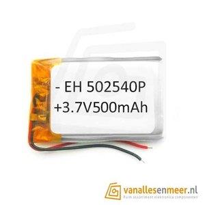 Lithium Ion Polymer batterij - 3,7 V 500mAh