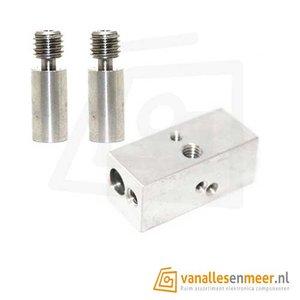 2 in 1 heater block met 2 nozzle 1,75mm  E3D
