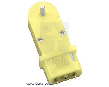 180:1 Mini Plastic Gearmotor, 90° 3mm D-Shaft Output Pololu 1593