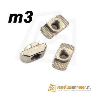 T-sleuf hamer m3 6mm sleuf