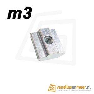 T-moer m3 6mm sleuf