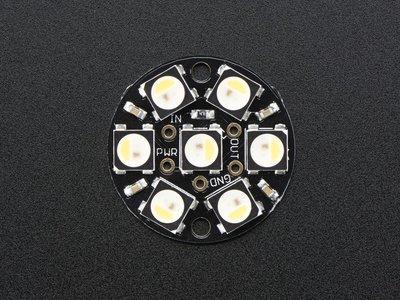 NeoPixel Jewel - 7 x 5050 RGBW LED w/ Integrated Drivers - Warm White - ~3000K  Adafruit 2858