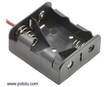 2-C Battery Houder  Pololu 1157