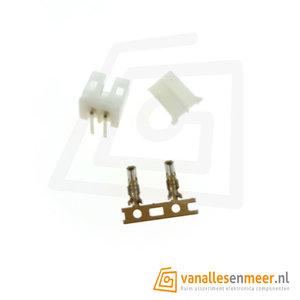 JST PH-2.0  2 pin  connector set haaks