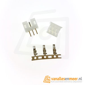 JST PH-2.0  3 pin  connector set recht