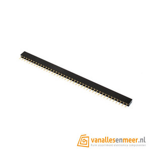Headerpins female socket 1x40 pitch 2.0mm
