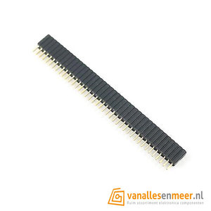Headerpins female socket 1x40 pitch 1.27mm
