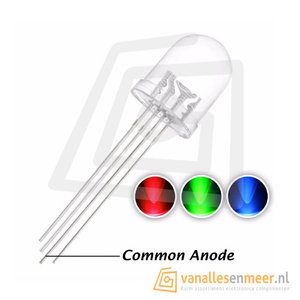 10mm LED  RGB Clear common anode