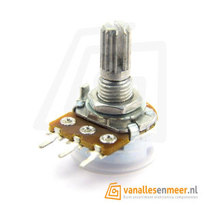 potentiometer axiaal 10K Ohm Logaritmisch