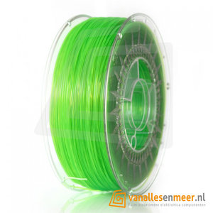 PLA Filament 1.75mm 1kg transparent groen helder